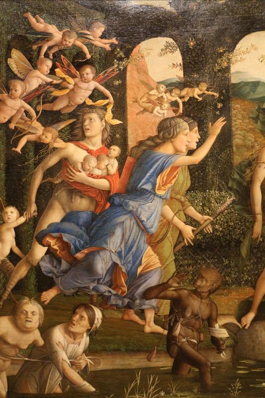 Andrea mantegna, minerva scaccia i vizi dal giardino delle virtù, 1497-1502 ca. (louvre) 23 - Sailko - Ferrara (FE)