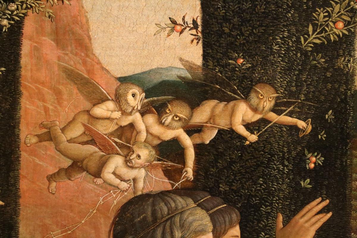 Andrea mantegna, minerva scaccia i vizi dal giardino delle virtù, 1497-1502 ca. (louvre) 24 - Sailko - Ferrara (FE)