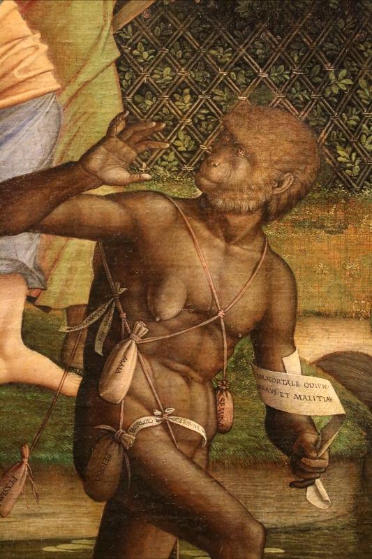 Andrea mantegna, minerva scaccia i vizi dal giardino delle virtù, 1497-1502 ca. (louvre) 27 - Sailko - Ferrara (FE)