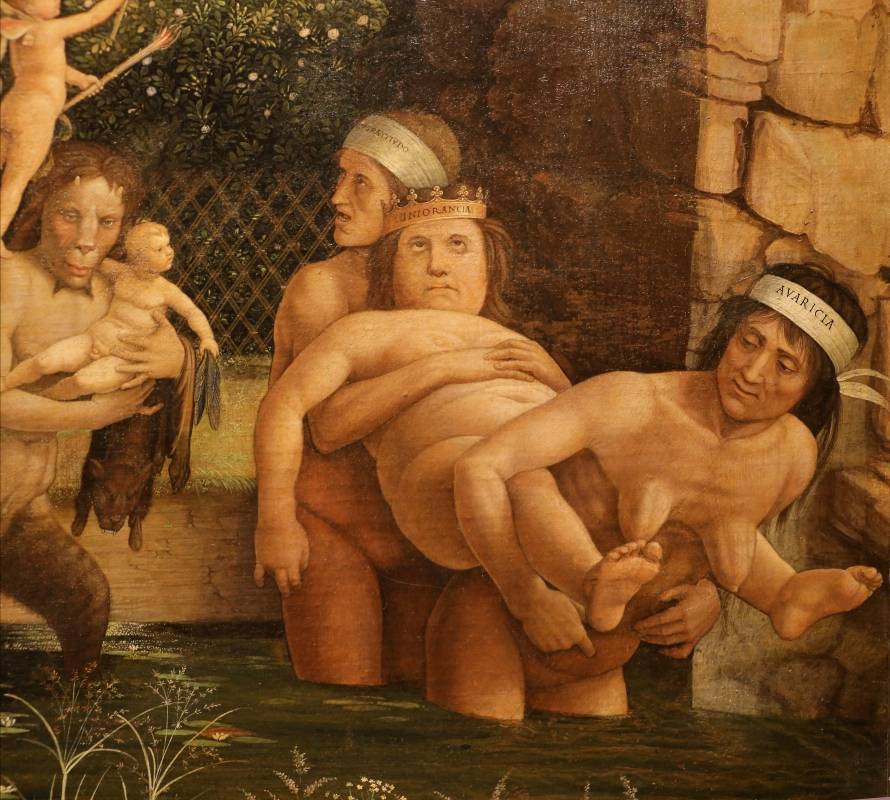 Andrea mantegna, minerva scaccia i vizi dal giardino delle virtù, 1497-1502 ca. (louvre) 37 - Sailko - Ferrara (FE)
