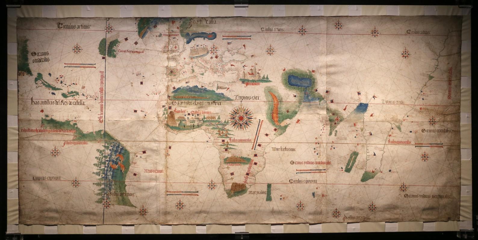 Anonimo portoghese, carta navale per le isole nuovamente trovate in la parte dell'india (de cantino), 1501-02 (bibl. estense) 01 - Sailko - Ferrara (FE)