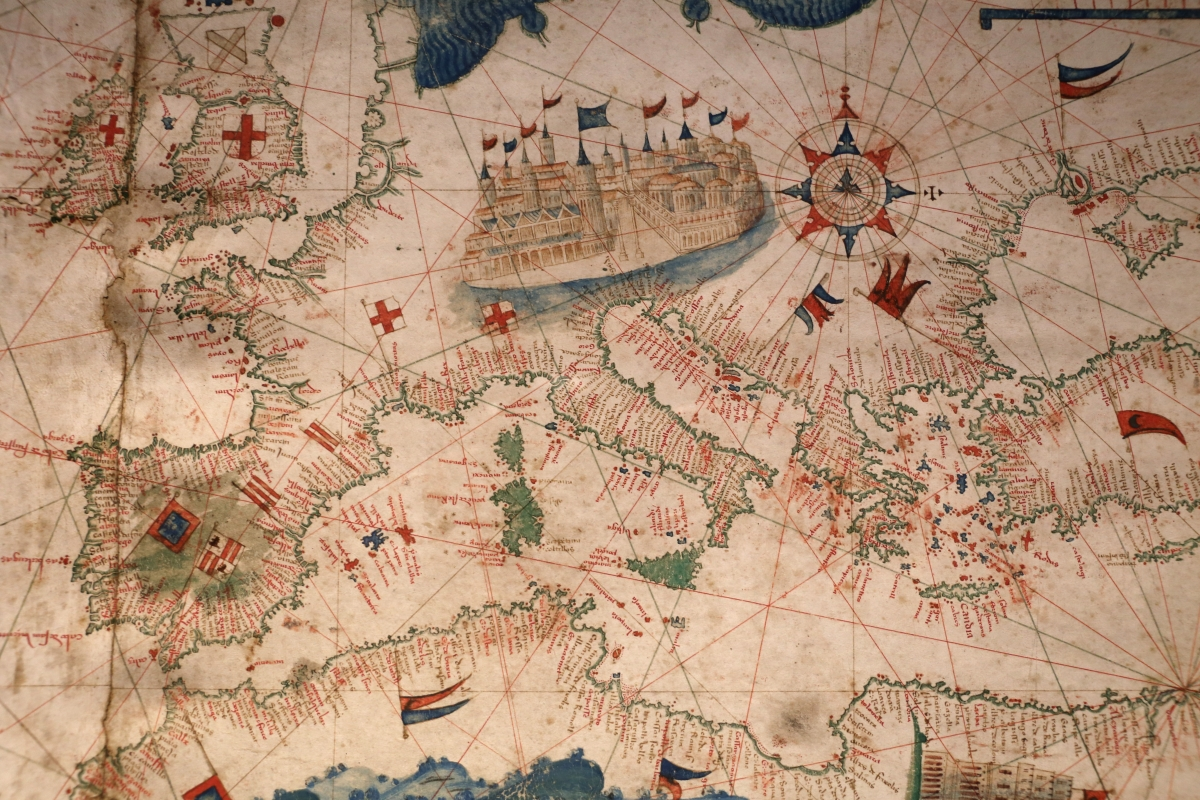 Anonimo portoghese, carta navale per le isole nuovamente trovate in la parte dell'india (de cantino), 1501-02 (bibl. estense) 06 - Sailko - Ferrara (FE)