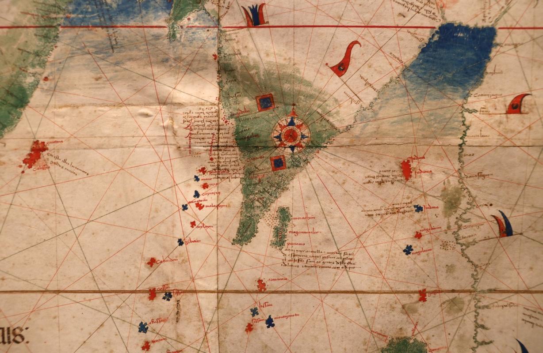 Anonimo portoghese, carta navale per le isole nuovamente trovate in la parte dell'india (de cantino), 1501-02 (bibl. estense) 16 - Sailko - Ferrara (FE)