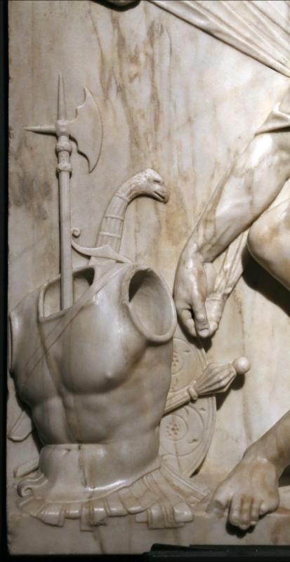Antonio lombardo, marte, 1513-15 ca. (galleria estense) 02 armi - Sailko - Ferrara (FE)