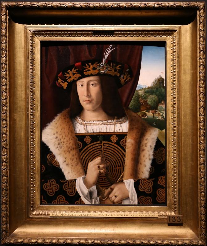 Bartolomeo veneto, ritratto di gentiluomo, 1510-15 ca. (cambridge, fitzwilliam museum) 01 - Sailko - Ferrara (FE)