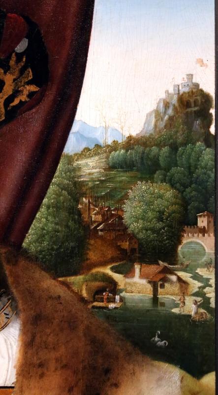 Bartolomeo veneto, ritratto di gentiluomo, 1510-15 ca. (cambridge, fitzwilliam museum) 03 apesaggio - Sailko - Ferrara (FE)