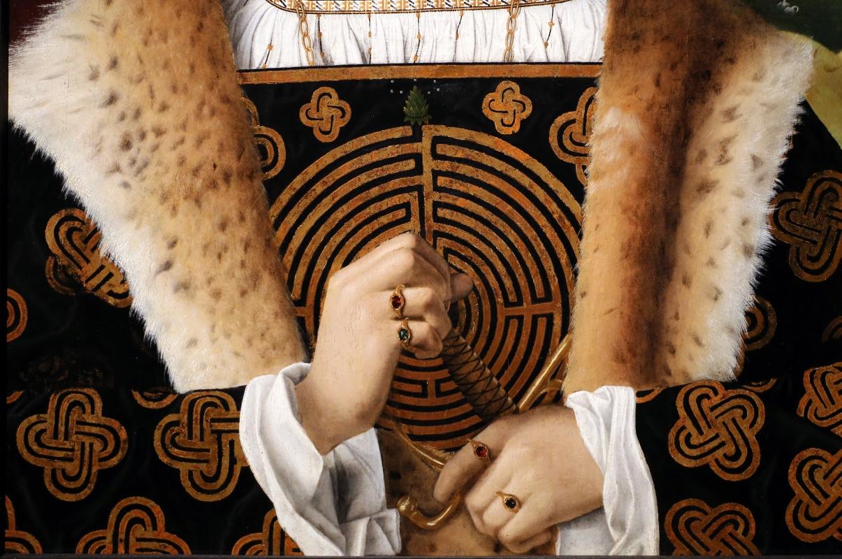 Bartolomeo veneto, ritratto di gentiluomo, 1510-15 ca. (cambridge, fitzwilliam museum) 04 labirinto - Sailko - Ferrara (FE)