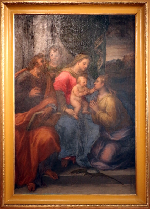 Bastianino, madonna col bambino tra i ss. lucia e matteo, 1582 ca., da s. lucia a ferrara - Sailko - Ferrara (FE)