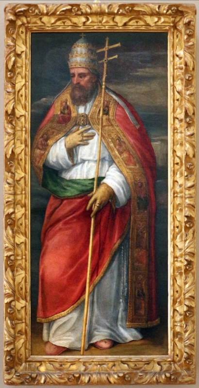 Bastianino, ss. gregorio e silvestro papi, 1565-70 ca. 01 - Sailko - Ferrara (FE)
