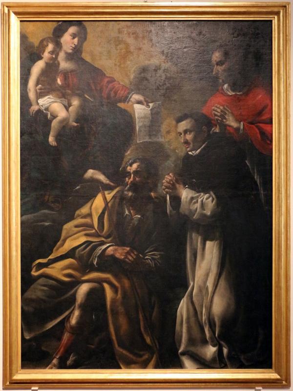 Benedetto zallone, madonna col bambino, san giuseppe, san domenico e carlo borromeo, 1620-40 ca. (cento) - Sailko - Ferrara (FE)