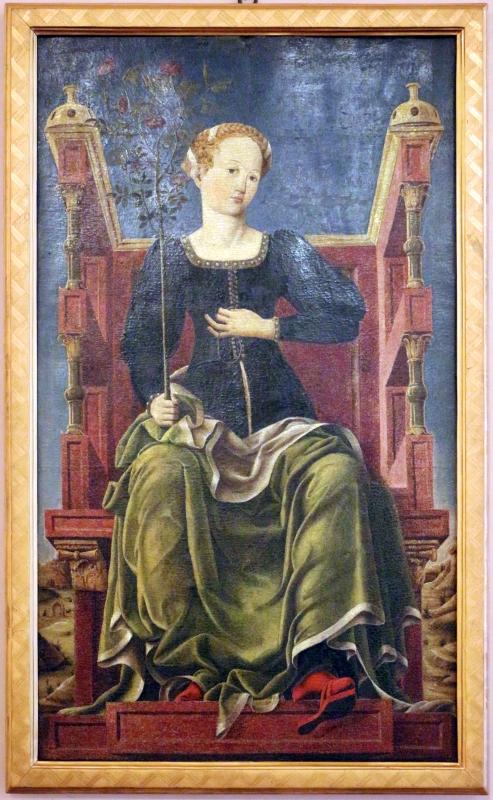 Bottega di cosmè tura, musa erato, 1450 ca., dallo studiolo di belfiore, 01 - Sailko - Ferrara (FE)