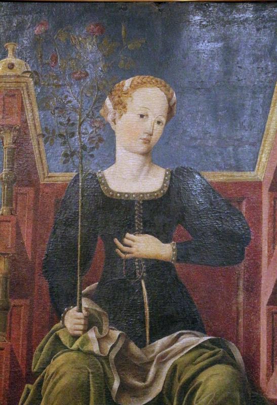 Bottega di cosmè tura, musa erato, 1450 ca., dallo studiolo di belfiore, 02 - Sailko - Ferrara (FE)