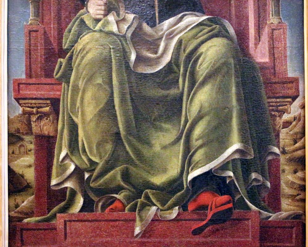 Bottega di cosmè tura, musa erato, 1450 ca., dallo studiolo di belfiore, 03 - Sailko - Ferrara (FE)