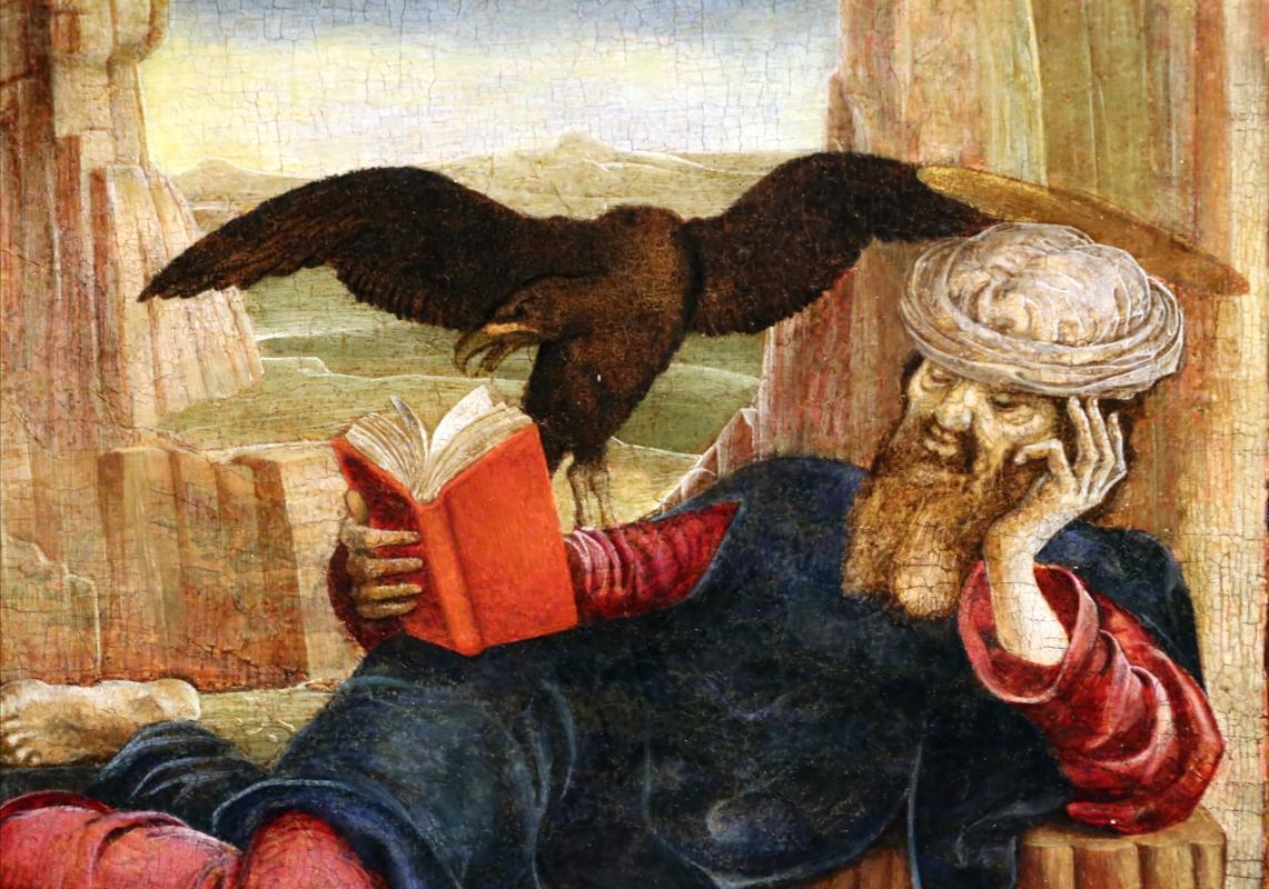Cosmè tura, san giovanni a patmos, 1470-75 ca. (thyssen-bornemisza) 03 - Sailko - Ferrara (FE)