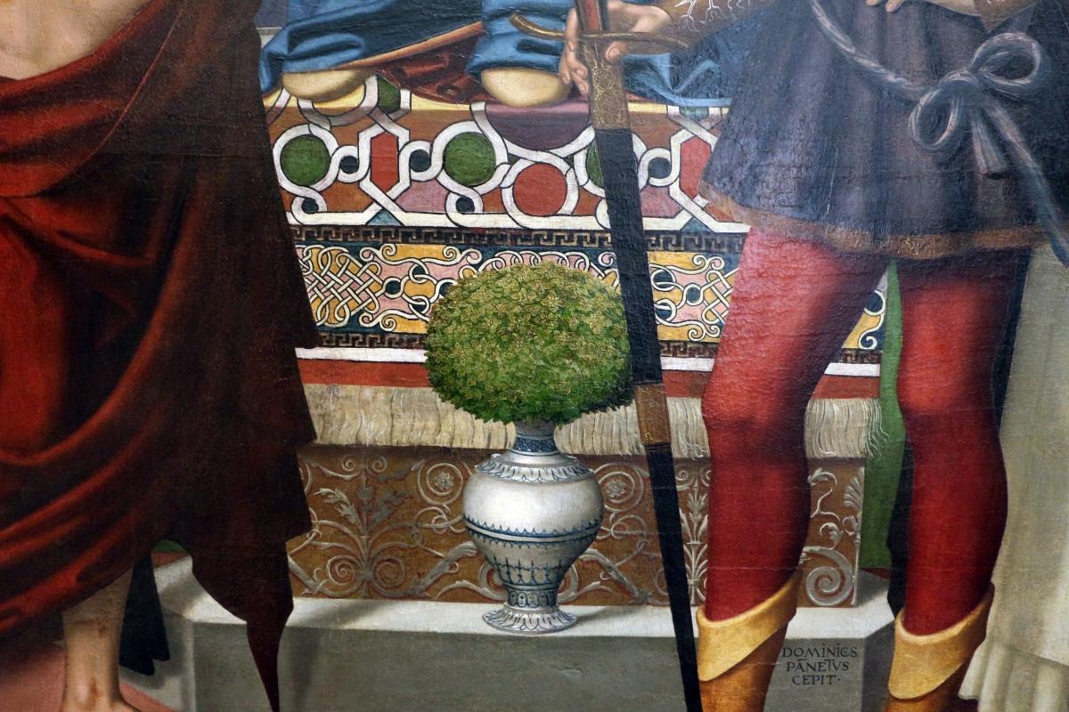 Domenico panetti, maestà tra i ss. antonio abate, giobbe, giuliano e pietro martire, 1503, da s. giobbe a ferrara 02 - Sailko - Ferrara (FE)