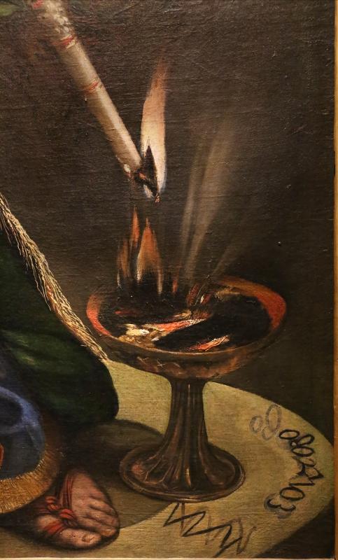 Dosso dossi, melissa, 1518 ca. 15 cerchio magico e candela - Sailko - Ferrara (FE)