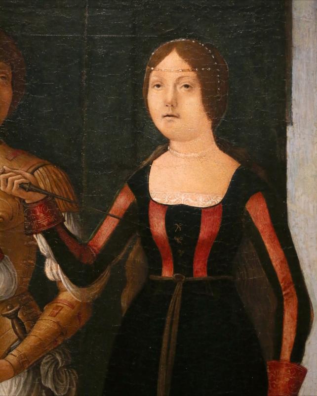Ercole de' roberti e giovan francesco maineri, lucrezia, bruto e collatino, 1486-93 ca. (galleria estense) 03 - Sailko - Ferrara (FE)
