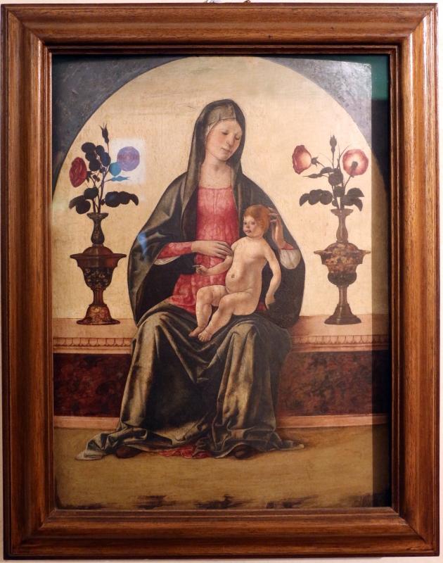 Ercole de' roberti, madonna col bambino tra due vasi di rose, 01 - Sailko - Ferrara (FE)