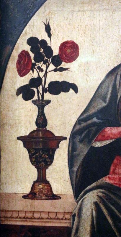 Ercole de' roberti, madonna col bambino tra due vasi di rose, 02 - Sailko - Ferrara (FE)