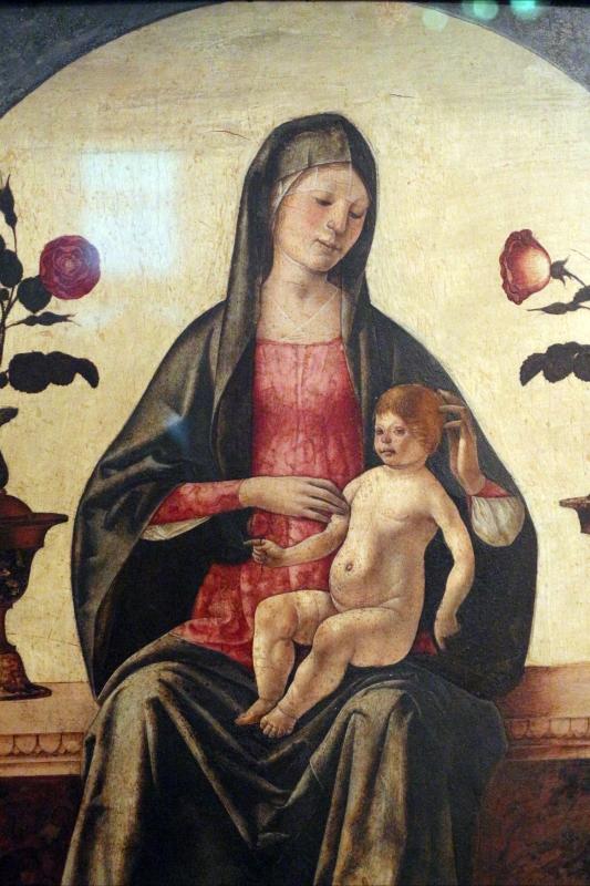 Ercole de' roberti, madonna col bambino tra due vasi di rose, 03 - Sailko - Ferrara (FE)