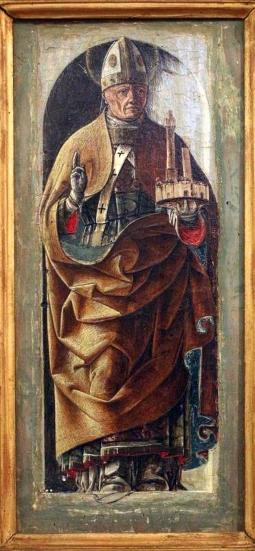 Ercole de' roberti, san petronio, dal polittico griffoni, 1472-1473 circa 02 - Sailko - Ferrara (FE)