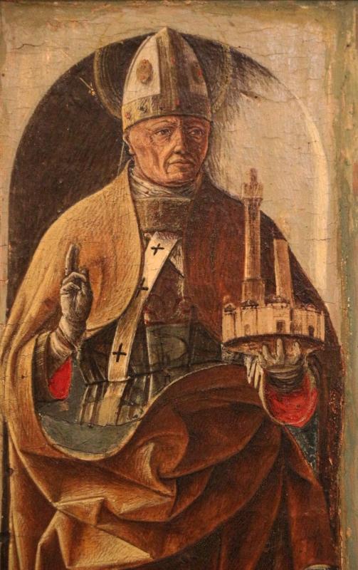 Ercole de' roberti, san petronio, dal polittico griffoni, 1472-1473 circa 03 - Sailko - Ferrara (FE)
