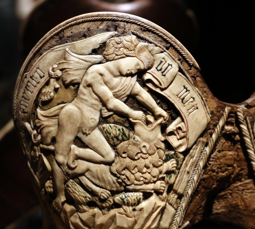 Friuli o tirolo, sella da parata con le armi di ercole I d'este, post 1474 (galleria estense) 08 - Sailko - Ferrara (FE)