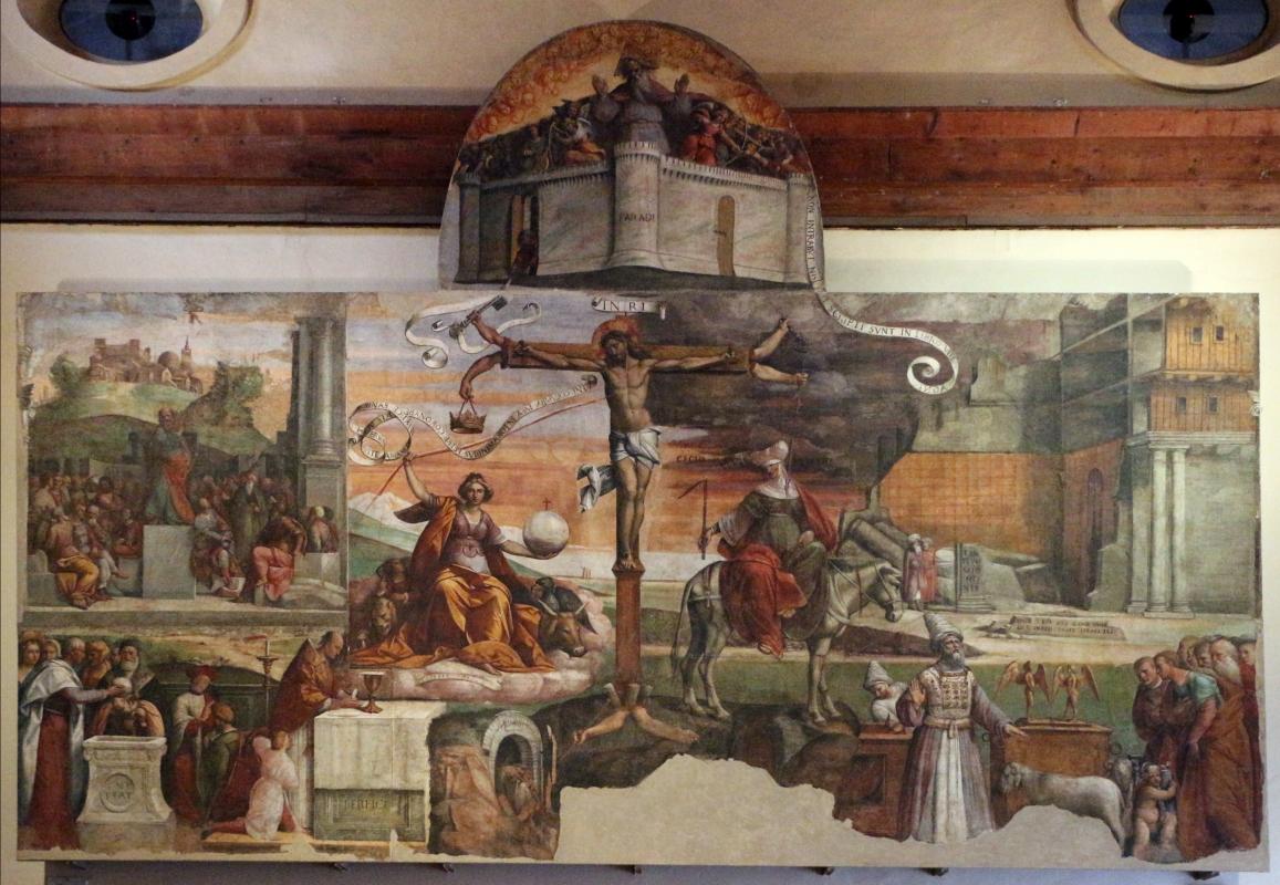 Garofalo, allegoria dell'antico e nuovo testamento con trionfo della chiesa sulla sinagoga, 1523, da s. andrea a ferrara 01 - Sailko - Ferrara (FE)