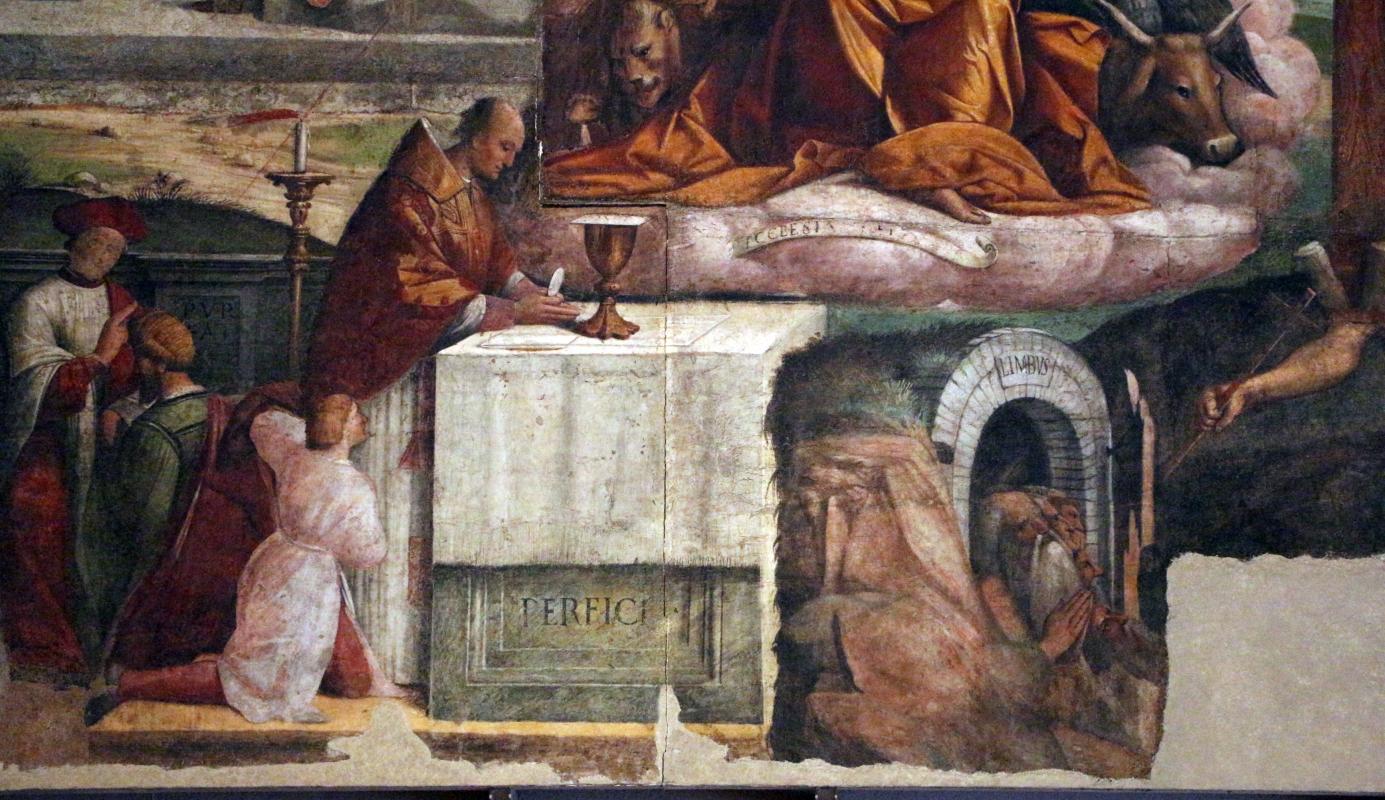 Garofalo, allegoria dell'antico e nuovo testamento con trionfo della chiesa sulla sinagoga, 1523, da s. andrea a ferrara 06 - Sailko - Ferrara (FE)