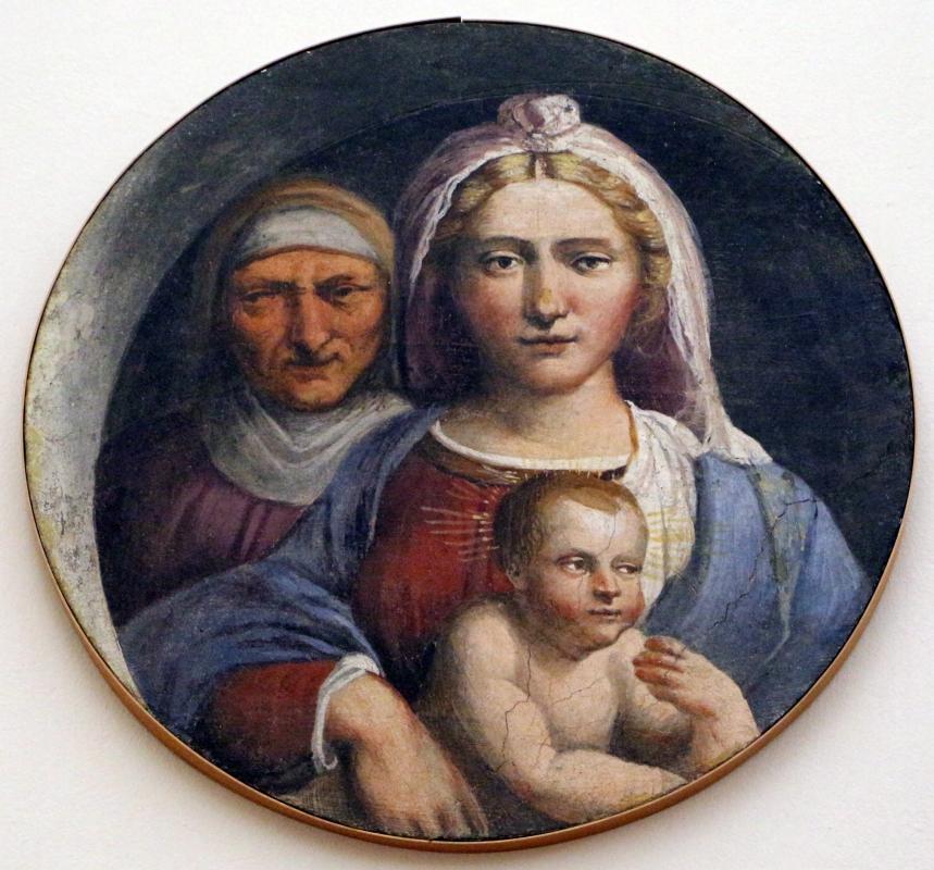 Garofalo, madonna col bambino e sant'anna, dal convento di s. giorgio a ferrara - Sailko - Ferrara (FE)