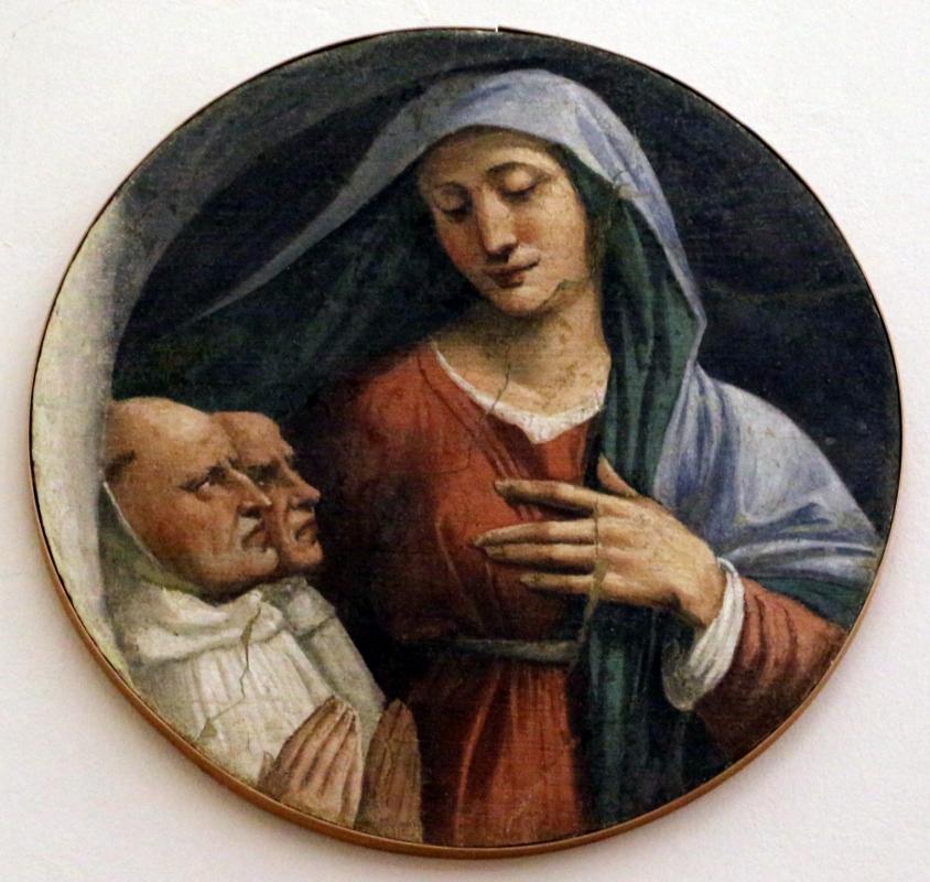 Girolamo da carpi, madonna con due monaci olivetani, dal convento di s. giorgio a ferrara - Sailko - Ferrara (FE)