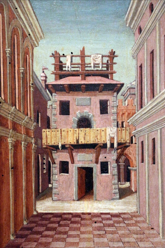 Girolamo da cotignola, due vedute di città, 1520, 03 - Sailko - Ferrara (FE)