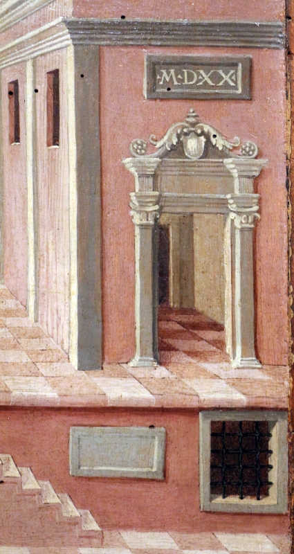 Girolamo da cotignola, due vedute di città, 1520, 05 - Sailko - Ferrara (FE)