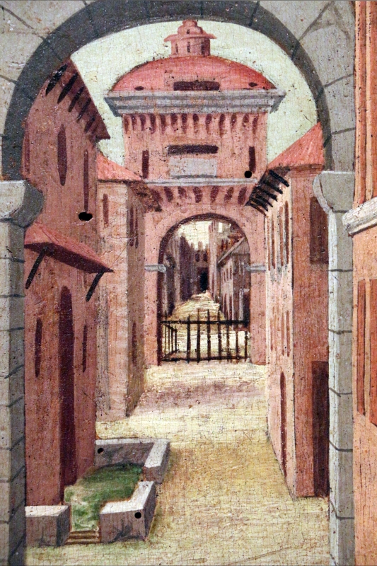 Girolamo da cotignola, due vedute di città, 1520, 09 - Sailko - Ferrara (FE)