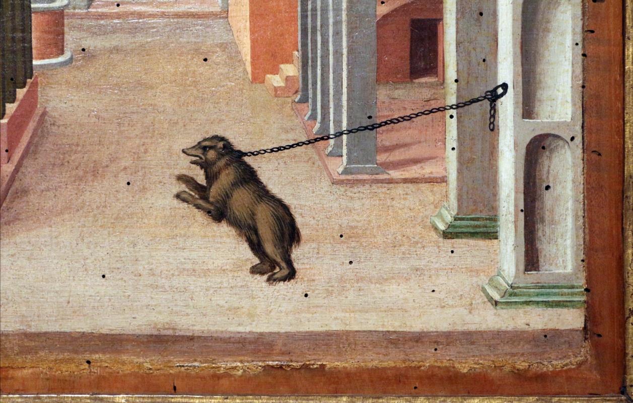 Girolamo da cotignola, due vedute di città, 1520, 11 orso incatenato - Sailko - Ferrara (FE)