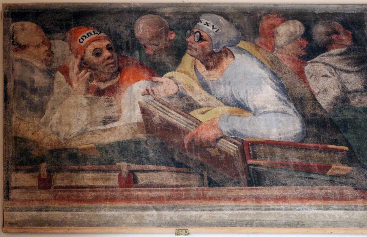 Giuseppe mazzuoli detto il bastardo, disputa coi dottori, 1579-80, dalla chiesa del gesù a ferrara 02 - Sailko - Ferrara (FE)