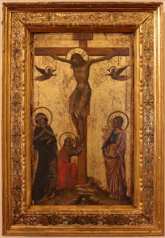 Guariento (attr.), cristo in croce tra la vergine, giovanni e la maddalena, dal convento del corpus domini a ferrara, 1370 ca - Sailko - Ferrara (FE)