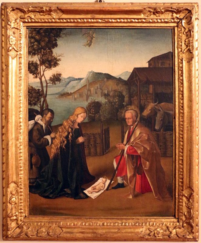 Imitatore di boccaccio boccaccino, adorazione del bambino con pastore, 1510-15 ca - Sailko - Ferrara (FE)