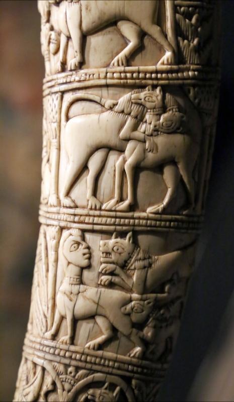 Italia meridionale (forse), olifante detto corno di orlando, xi secolo ca. (tolosa, museo paul-dupuy), 02 belve - Sailko - Ferrara (FE)