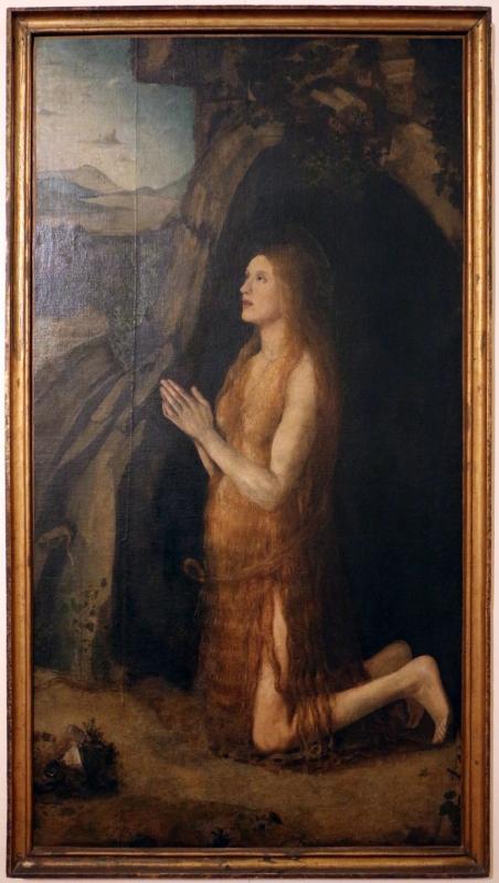 Italia settentrionale, santa maria egiziaca nel deserto con frammenti di paesaggio e un san girolamo, 1500-15 ca., 01 - Sailko - Ferrara (FE)