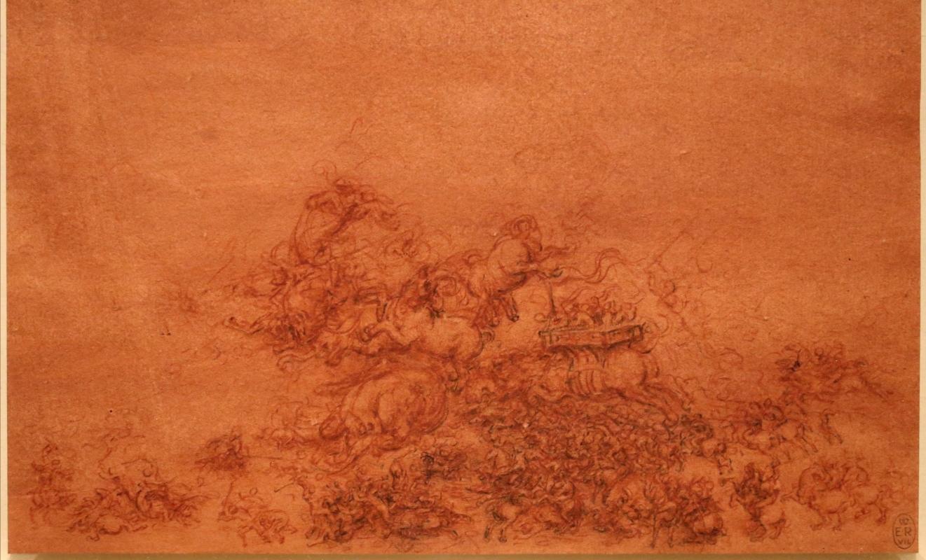 Leonardo da vinci, battaglia fantastica con cavalli, 1515-18 ca. (royal collections) 02 - Sailko - Ferrara (FE)