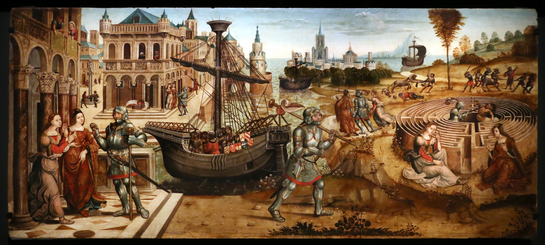 Maestro dei cassoni campana, teseo e il minotauro, 1510-15 ca. (avignone, petit palais) 01 - Sailko - Ferrara (FE)