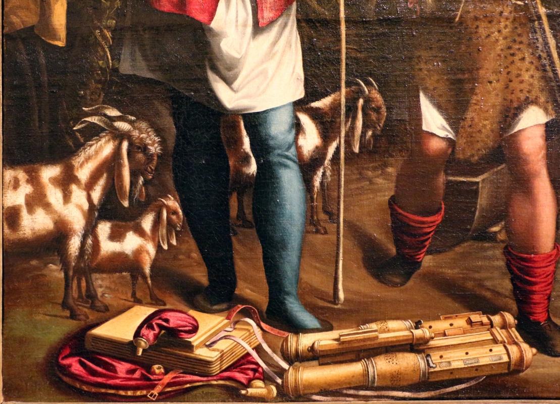 Maestro dei dodici apostoli, giacobbe e rachele al pozzo, ferrara 1500-50 ca. 04 capre - Sailko - Ferrara (FE)