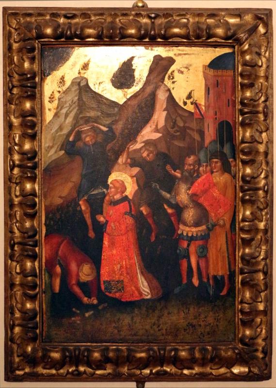 Maestro del crocifisso di pesaro, martirio di santo stefano, 1375-1400 ca - Sailko - Ferrara (FE)