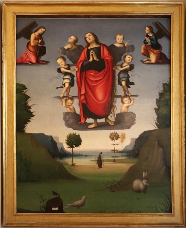 Maestro della maddalena assunta, ascensione di maria maddalena, 1500-10 ca., da s. andrea a ferrara 01 - Sailko - Ferrara (FE)
