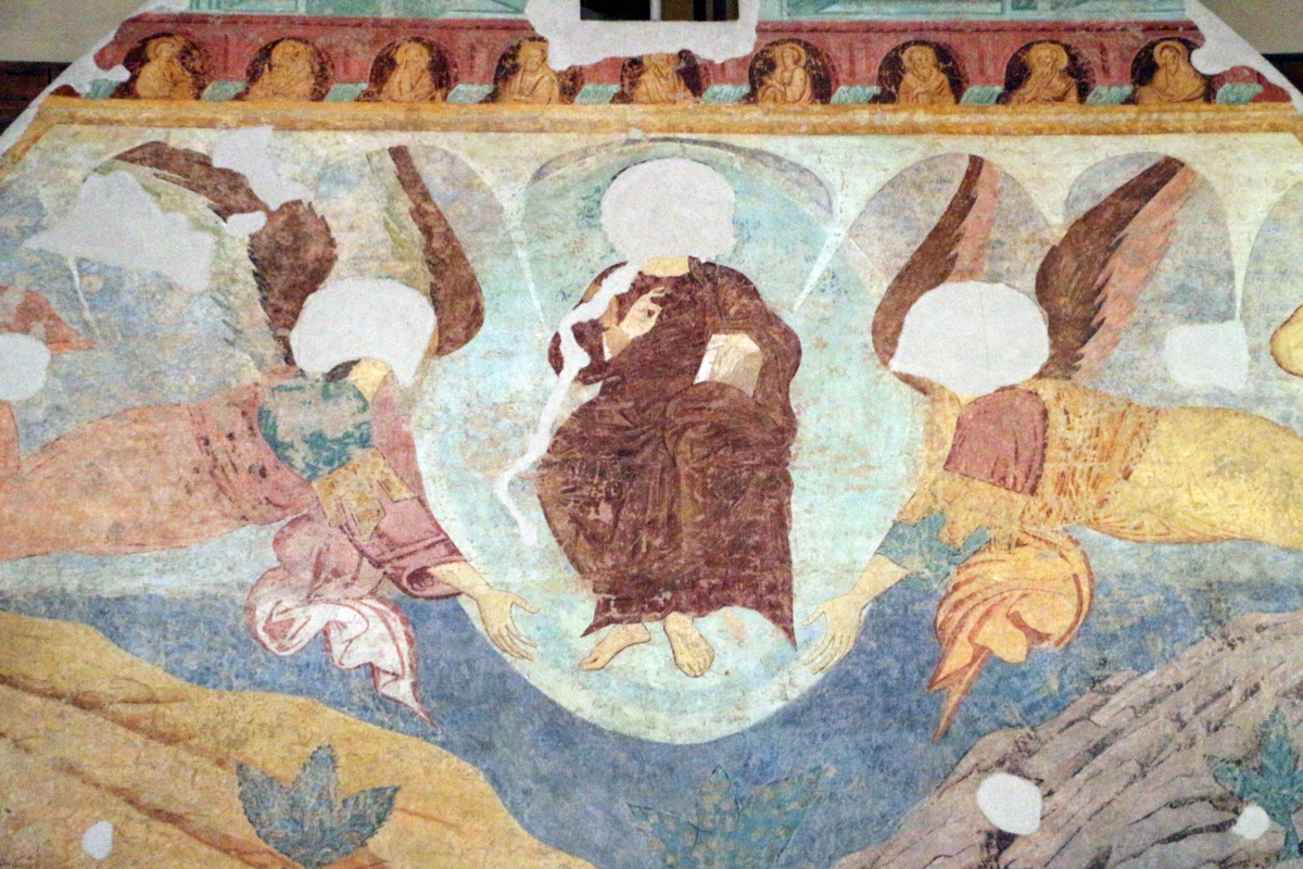 Maestro di san bartolomeo, ascensione, apostoli, storie di s. bartolomeo ed evangelisti, da s. bartolomeo a ferrara, 1264-90 ca. 04 - Sailko - Ferrara (FE)