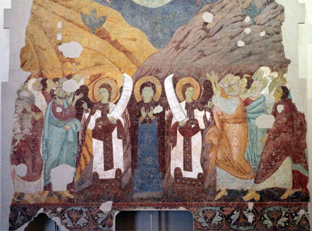 Maestro di san bartolomeo, ascensione, apostoli, storie di s. bartolomeo ed evangelisti, da s. bartolomeo a ferrara, 1264-90 ca. 05 - Sailko - Ferrara (FE)
