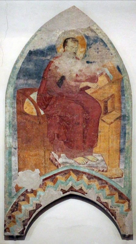 Maestro di san bartolomeo, ascensione, apostoli, storie di s. bartolomeo ed evangelisti, da s. bartolomeo a ferrara, 1264-90 ca. 11 - Sailko - Ferrara (FE)