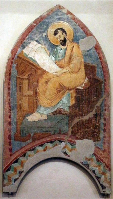 Maestro di san bartolomeo, ascensione, apostoli, storie di s. bartolomeo ed evangelisti, da s. bartolomeo a ferrara, 1264-90 ca. 14 - Sailko - Ferrara (FE)
