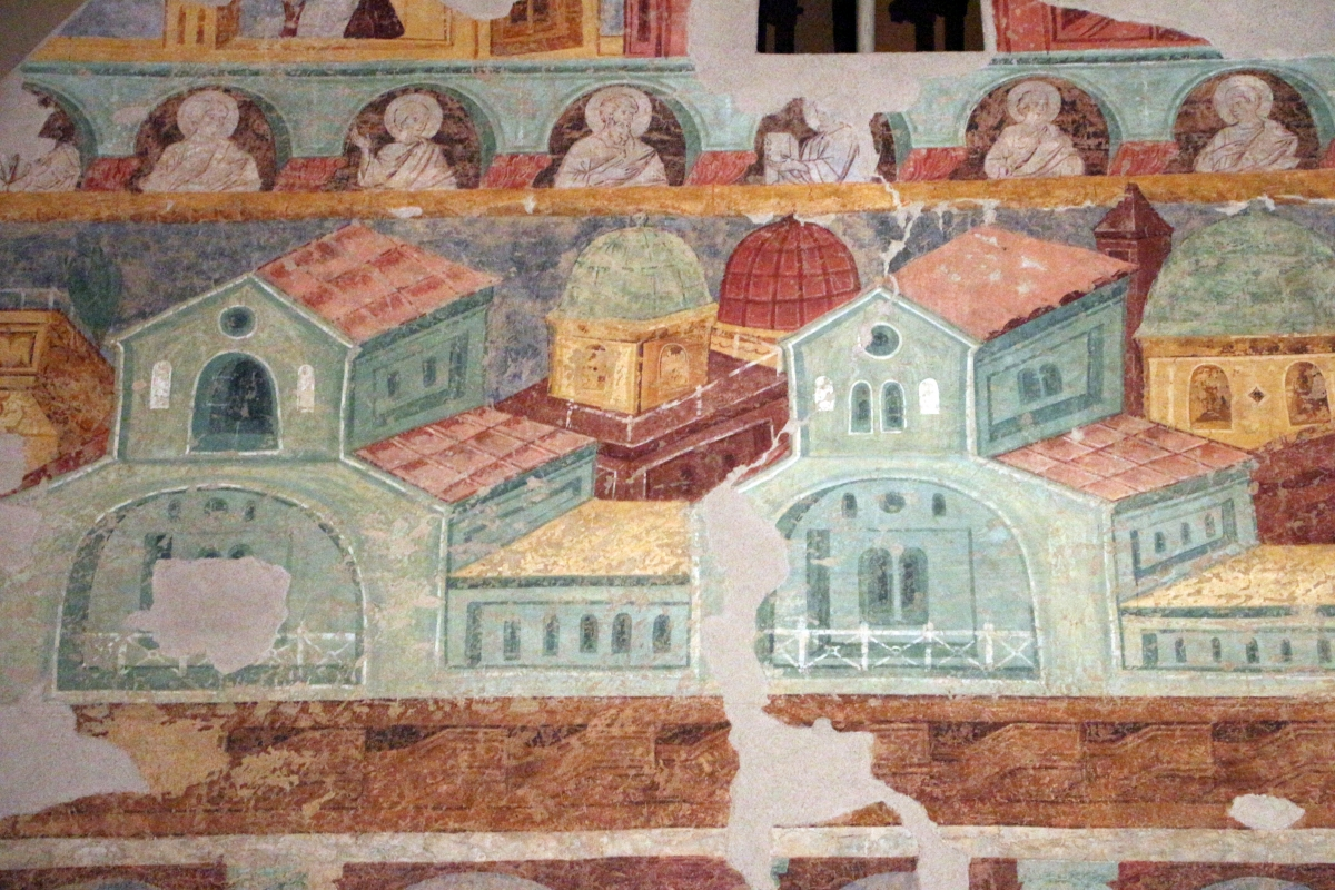 Maestro di san bartolomeo, ascensione, apostoli, storie di s. bartolomeo ed evangelisti, da s. bartolomeo a ferrara, 1264-90 ca. 17 - Sailko - Ferrara (FE)
